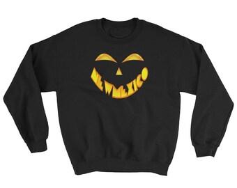 New Mexico Jack O' Lantern Pumpkin Face Halloween Costume Sweatshirt