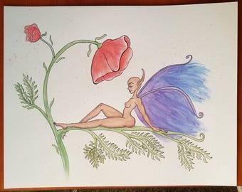 California Fairy - Waterpainting