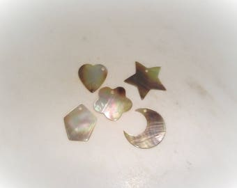 Mother of pearl designs drilled and ready to use for all sorts of crafts! Just use your creativity and imagination!