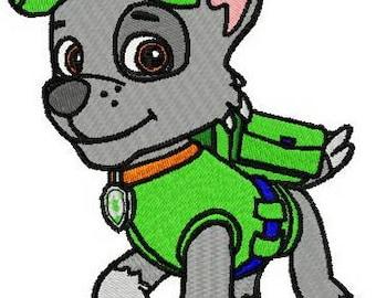 Paw patrol Rocky  embroidery design