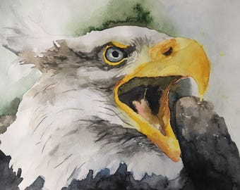Beautiful watercolor eagle