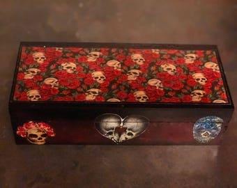 Skulls and Roses keepsake box