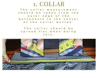 Measure a well fitted shirt