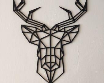 Geometric wooden deer