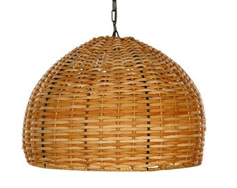 light in rattan hanging lamp handmade, handcrafted, gift