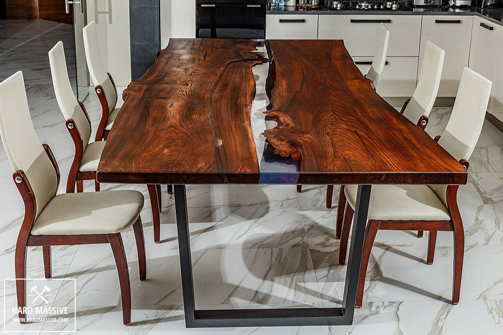 live edge dining table dining wood table table wood epoxy. Black Bedroom Furniture Sets. Home Design Ideas
