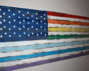 Pride American Flag