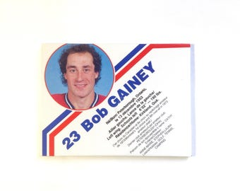 Large Fridge Magnet 'Bob Gainey' Montreal Canadiens Magnet Montreal Habs Collectible Hockey Player Gift Mtl Souvenir Sports Gift No QC-25