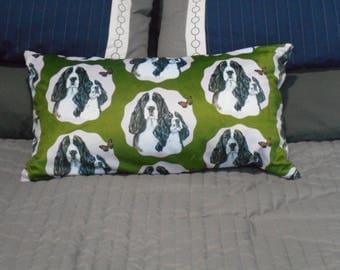English springer spaniel decorative throw pillow
