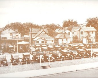 "USED CARS For Sale a 9"" X 12"" Sepia"