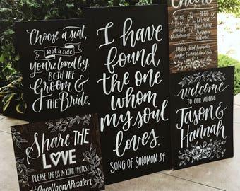 Custom Wedding Chalkboards