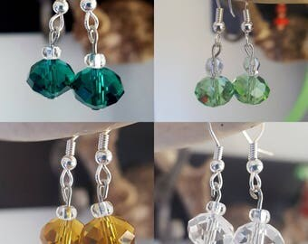 Simple sparkly dangle earrings