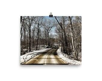 Road not traveled / Winter Road / Landscape / Digital Download