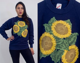 Vintage 80s sunflower sweater