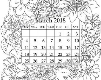 march flower coloring pages - photo#33