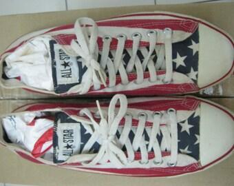 VINTAGE Converse Shoes AMERICA Flag Low Cut RARE