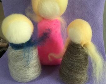 Wool roving family set