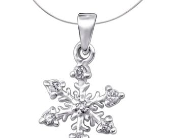 Silver Snowflake Charm With Cubic Zirconias