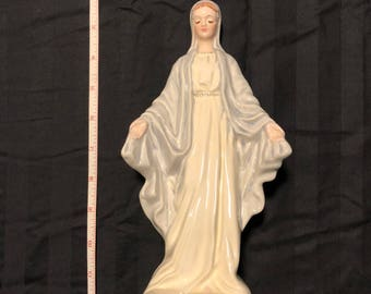 """Vintage Florence Ceramics 1950's Figurine """"Our Lady Of Grace"""""""