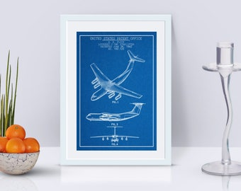 Airplane Printables / Lockheed C-141 Starlifter Patent Poster / Airplane Decor / USAF / Aviation Wall Art