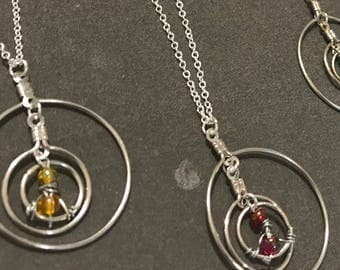 3 hooped necklace // time turner // harry potter // hermione necklace (Granger)