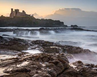 Tantallon Castle, East Lothian, Scotland. Taken from Seacliff Beach near to North Berwick, Scotland