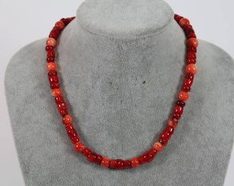 Red Oronge necklace coral