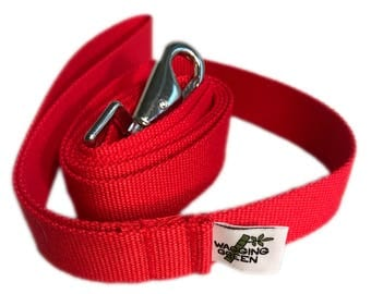 Organic Bamboo Double Layer Dog Leash - Berry Red