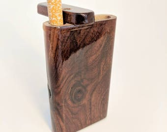 Handmade Black Walnut One Hitter/Wood Dugout