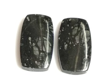Picasso Jasper Rectangle Pair Cabochon,Size- 23x13 ,MM,Natural Picasso Jasper, AAA,Quality  Loose Gemstone, Smooth Cabochons.