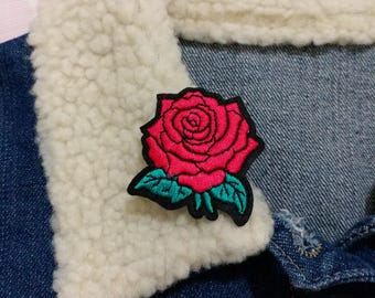 Rose Patch, Iron on Patch