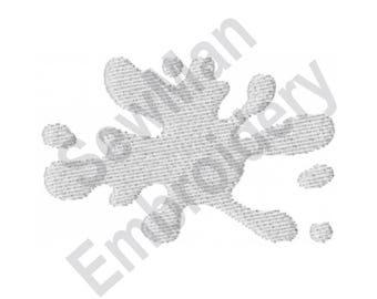 Splatter   - Machine Embroidery Design, Paint Splatter