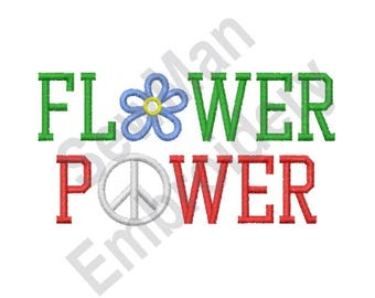 Flower Power - Machine Embroidery Design