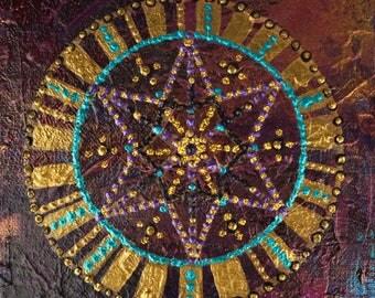 Star artwork // Mandala art // Spiritual art // Fairy art // Original art // Reiki art // Meditation art // Mandala