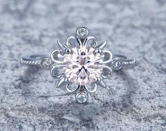 Shining Moissanit Diamant Ring