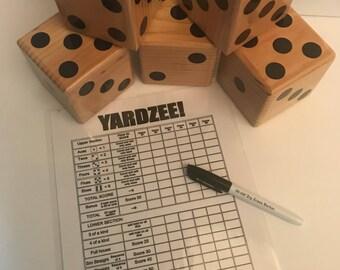 Yard Yahtzee, Yardzee, Yard Dice, Lawn Yahtzee, Yardzee Game, Backyard Game, Yard Game, Yard Dice