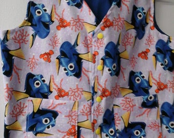 CLEARANCE! Size M Weighted Vest for Child w/Special Needs and Sensory Issues. Finding Dory Print.