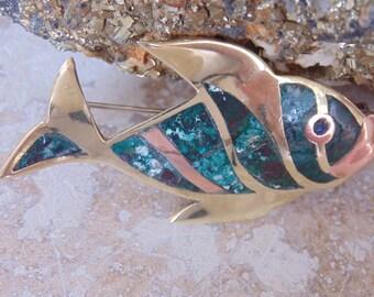 OBO - Los Castillo ~ Vintage Beautiful Fish Pin c. 1955