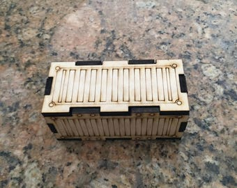 wargaming shipping container, wooden
