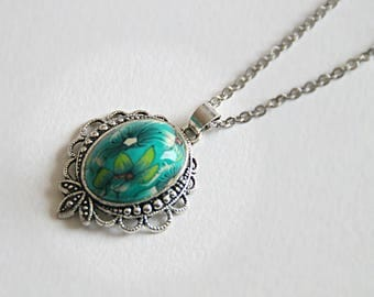 DAURINE baroque pendant necklace