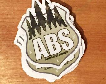 Bigfoot yeti sticker ABS always been skunked