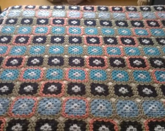Crocheted blanket/throw