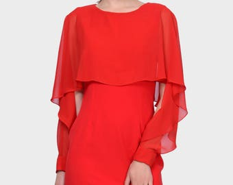 Great dress with chiffon sleeves