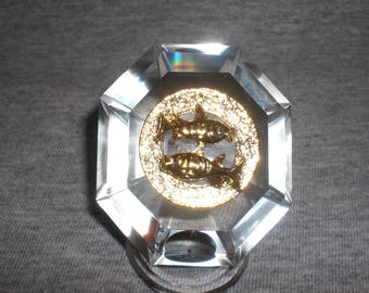 Pisces - miniature collectible crystal figurine