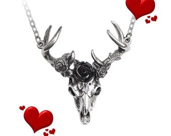 White Hart, Black Rose Pendant: Goth, Pendants, Haute, Stylish, Goth Accessories, Goth Jewelry, Goth Pendants