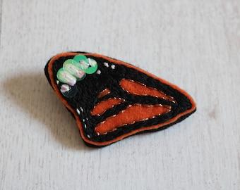 Butterfly wing brooch
