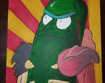 Pickle Rick Painting