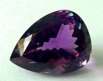 Top Quality of Natural African Amethyst Pear Shape 11.50 Carat
