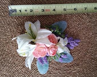 Spring pastel pinup hair flower
