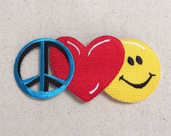 Peace Love and Happiness Patch